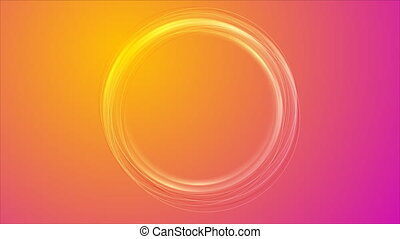 Colorful round shape video animation