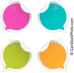 Colorful round stickers