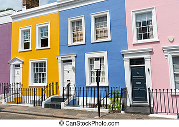 Colorful row houses