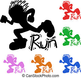 Colorful runner  - Creative design of colorful runner