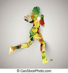 Colorful runner vector illustration