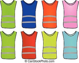 Colorful safety vest set
