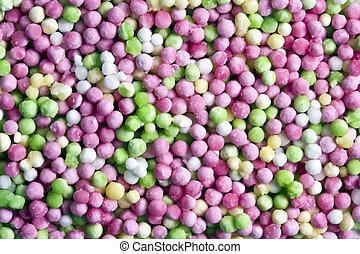 Colorful sago pearls background