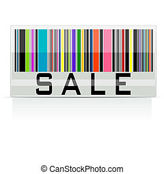 Colorful Sale Barcode - illustration of colorful barcode ...