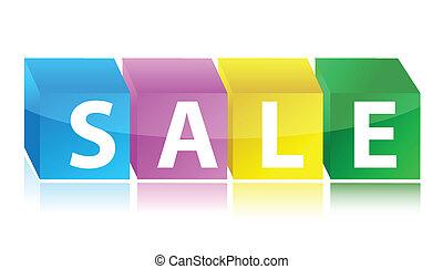 colorful sale cubes retail
