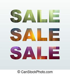 Colorful Sale Labels Set.