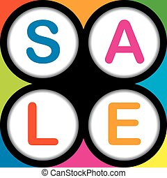 Colorful SALE poster