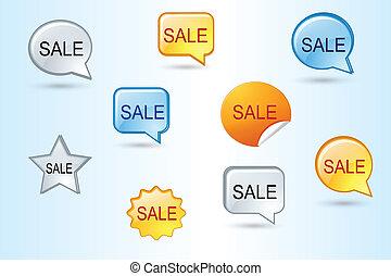 Colorful Sale  Vector Set