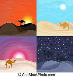 Colorful Sand Desert Landscape Templates