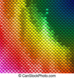 Colorful scales pattern - Abstract scales pattern in...