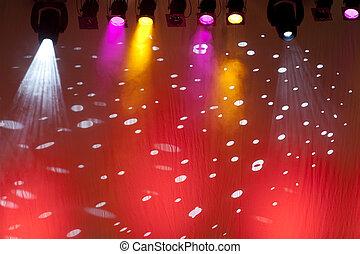 colorful scene spotlights