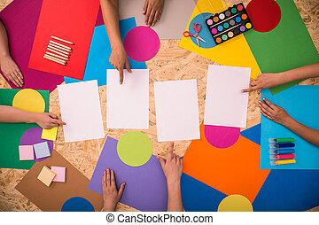 Colorful school accessories