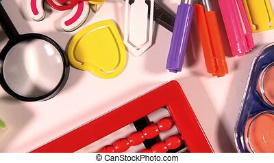 Colorful School Education Tools