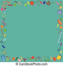 Colorful School Stuff Making a Frame