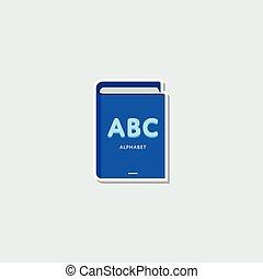 Colorful school symbol - ABC book - School symbol - ABC book...