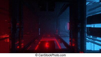 Colorful sci-fi boxes - An animation of sci-fi/futuristic...