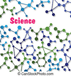 Colorful science background pattern with various chemical...