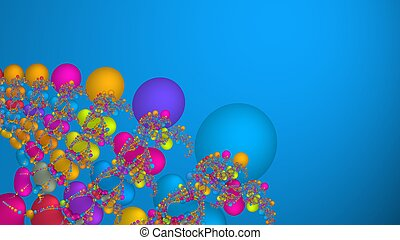 Colorful scientific abstract fractal background