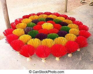 Colorful scuptures in Vietnam.