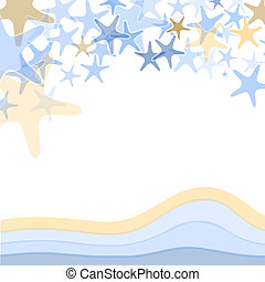 Colorful sea starfish illustration over white background