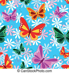 Colorful seamless butterfly pattern