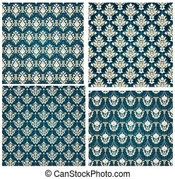 Colorful Seamless Damask Set