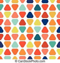 Colorful seamless geometric pattern.
