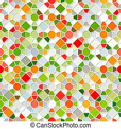 Colorful Seamless Mosaic Pattern