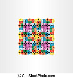 colorful seamless pattern decorative square background vector