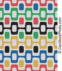 Colorful seamless pattern, mosaic background
