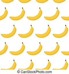 Colorful seamless pattern of  bananas.