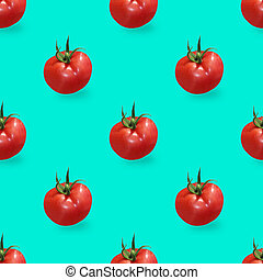 Colorful seamless pattern of red tomatos.