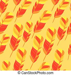 Colorful seamless pattern with bright abstract transparent feathers
