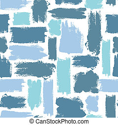 colorful seamless pattern with brush strokes. Sea fantasy ....