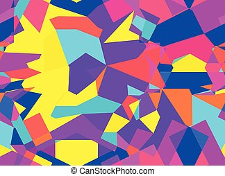 Colorful seamless pattern with chaotic geometric shapes -...