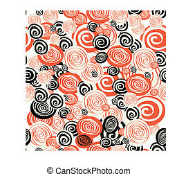 Colorful seamless pattern with circle