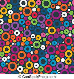 Colorful seamless pattern with circles.
