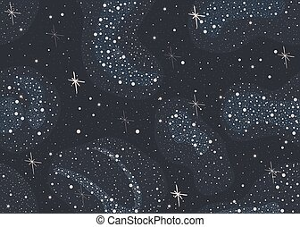 Colorful Seamless Pattern with shiny Stars