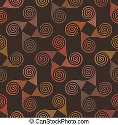 Colorful seamless pattern with spiral elements