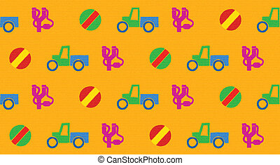 Colorful seamless pattern with toys