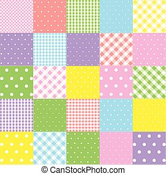 Colorful seamless patterns for baby style. Vector illustration for children background.