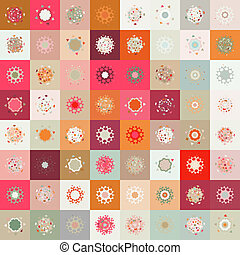 Colorful seamless snowflake pattern. EPS 8