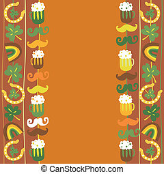 Colorful seamless St.Patrick's day border