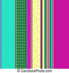 Colorful seamless striped pattern