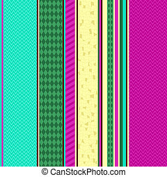 Colorful seamless striped pattern