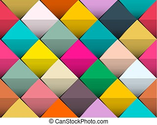 Colorful Seamless Vector Background with Retro Squares Suitable for Web or Print Cover Designs