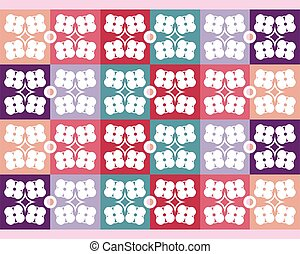 Colorful seamless vector pattern with flowers
