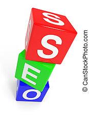 Colorful SEO cubes.