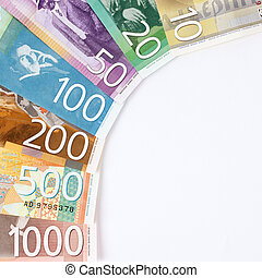 Serbian dinar banknotes - Colorful Serbian dinar banknotes, ...