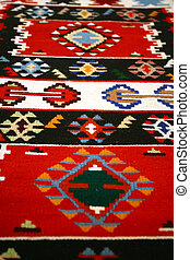 Colorful Serbian peruvian style rug surface handmade carpet...